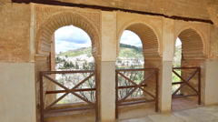 Alhambra of Granada Stock Footage