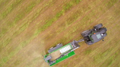 An agriliming truck on the wide field Stock Footage