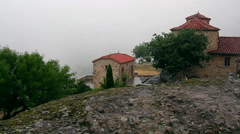 Rain in the Meteora,  Greece Stock Footage