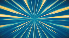 Blue and Orange Fast Rays Tunnel Background Stock Footage