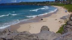 Oneloa Beach - Kapalua Resort - Island of Maui, Hawaii Stock Footage