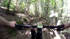 Mountain bike, cross country is an olympic sport. Stock Footage