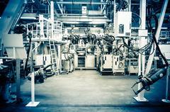 Modern assembly line - stock photo