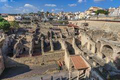 Herculaneum,Naples Italy - stock photo