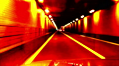 Vehicle Traveling Through Underground Tunnel On Highway Stock Footage