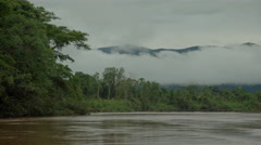 Cloudy day in area of Tambopata River Stock Footage