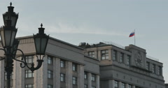 State building in the center of Moscow Stock Footage