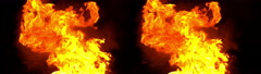 3D Stereoscopic Explosion Set 07 Side by Side 1000fps Slow Motion Stock Footage