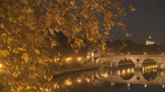 Wonderful  view of Rome by night Stock Footage