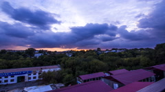 4k timelapse_sunset and clouds_Uman-Ukraine  Stock Footage