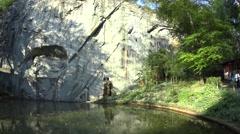 The Lion Monument (Lowendenkmal) in Lucerne (Luzern), Switzerland Stock Footage
