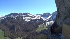 Aescher Switzerland Alps mountains video - stock footage