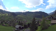 Grindelwald Switzerland valley village houses Stock Footage