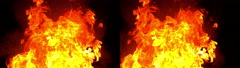 3D Stereoscopic Explosion Set 09 Side by Side 1000fps Slow Motion Stock Footage