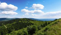 Jeseniky mountains in nice summer day Stock Photos