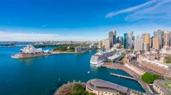 4k timelapse video of Circular Quay in Sydney CBD in daytime - stock footage