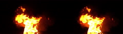3D Stereoscopic Fire Set 04 Side by Side 1000fps Slow Motion Stock Footage