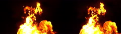 3D Stereoscopic Fire Set 05 Side by Side 1000fps Slow Motion - stock footage