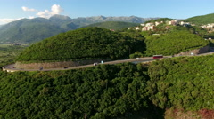 Route from Budva to Tivat and Kotor cities. Montenegro Stock Footage