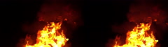 3D Stereoscopic Fire Set 06 Side by Side 1000fps Slow Motion - stock footage