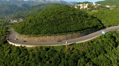 Part of Adriatic highway from Budva to Tivat. Montenegro Stock Footage
