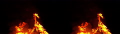 3D Stereoscopic Fire Set 07 Side by Side 1000fps Slow Motion - stock footage