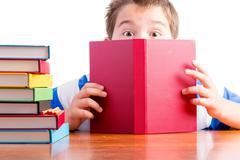 Curiosity makes learning easy for schoolchildren - stock photo
