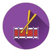 Drum toy icon Stock Illustration
