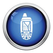 Portable GPS device icon - stock illustration