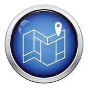 Navigation map icon Stock Illustration