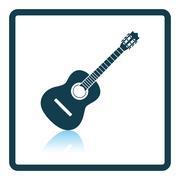 Acoustic guitar icon Stock Illustration