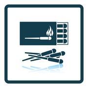 Match box  icon - stock illustration