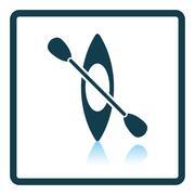 Kayak and paddle icon Stock Illustration