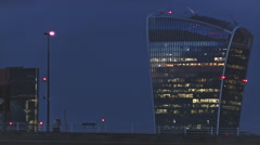 Evening at Waterloo Bridge, City of London Close Up - stock footage