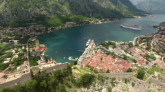 Fortifications of castle St. John (San Giovanni). Kotor, Montenegro Stock Footage