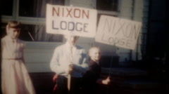 Children involved in the American Political process,3442 vintage film home movie Stock Footage
