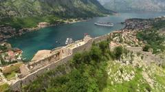 Boka Kotorska (gulf of Kotor). Montenegro. Aerial view Stock Footage
