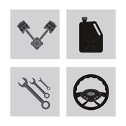 Icon set over frames. Auto part design. Vector graphic Stock Illustration