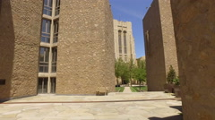 Yale Campus steady cam shot Stock Footage