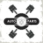 Machine icon. Auto part design. Vector graphic - stock illustration