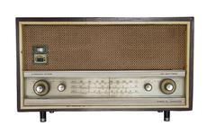 Vintage fashioned radio Stock Photos