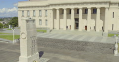 Aerial of Auckland Museum, New Zealand Stock Footage