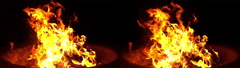 3D Stereoscopic Firewood Set 02 Side by Side 1000fps Slow Motion - stock footage