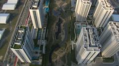 Aerial view of Olympic Village in Barra Da Tijuca, Rio De Janeiro Stock Footage