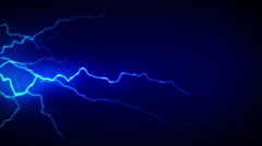 4K Electricity Blue Side Stock Footage