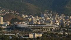 Aerial view of Maracana Stadium in Rio de Janeiro, Brazil. Stock Footage