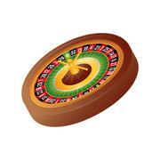 Roulette icon. Casino design. Vector graphic Stock Illustration