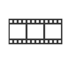 film strip icon. Movie design. Vector graphic - stock illustration