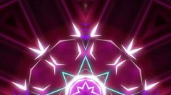 Moving lasers kaleidoscope visual - stock footage