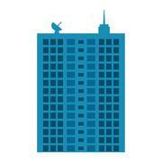 Building icon. City and urban design. Vector graphic - stock illustration